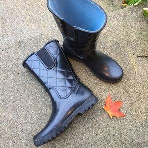 EUC Sperry Black Waterproof Rain Boots